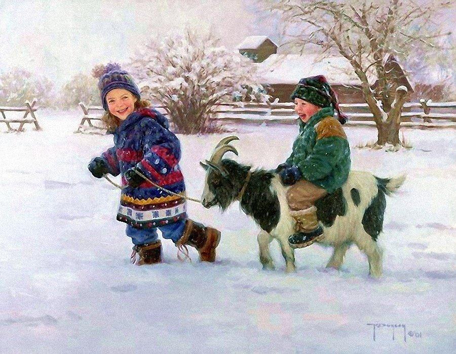 Художник Роберт Дункан - Зимние каникулы