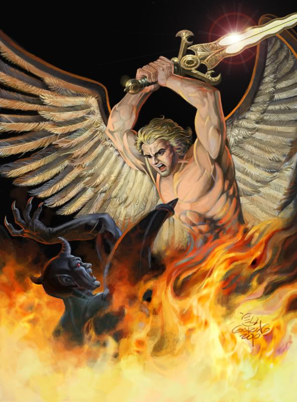 Картинки борьбы дьявола с богом