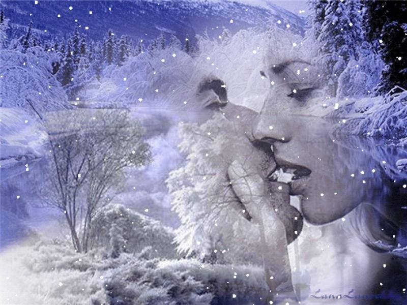 Зимой меня согреваешь ты открытка