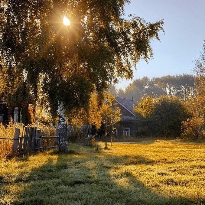 плюсом фото доброе утро рассвет в деревне конструкция